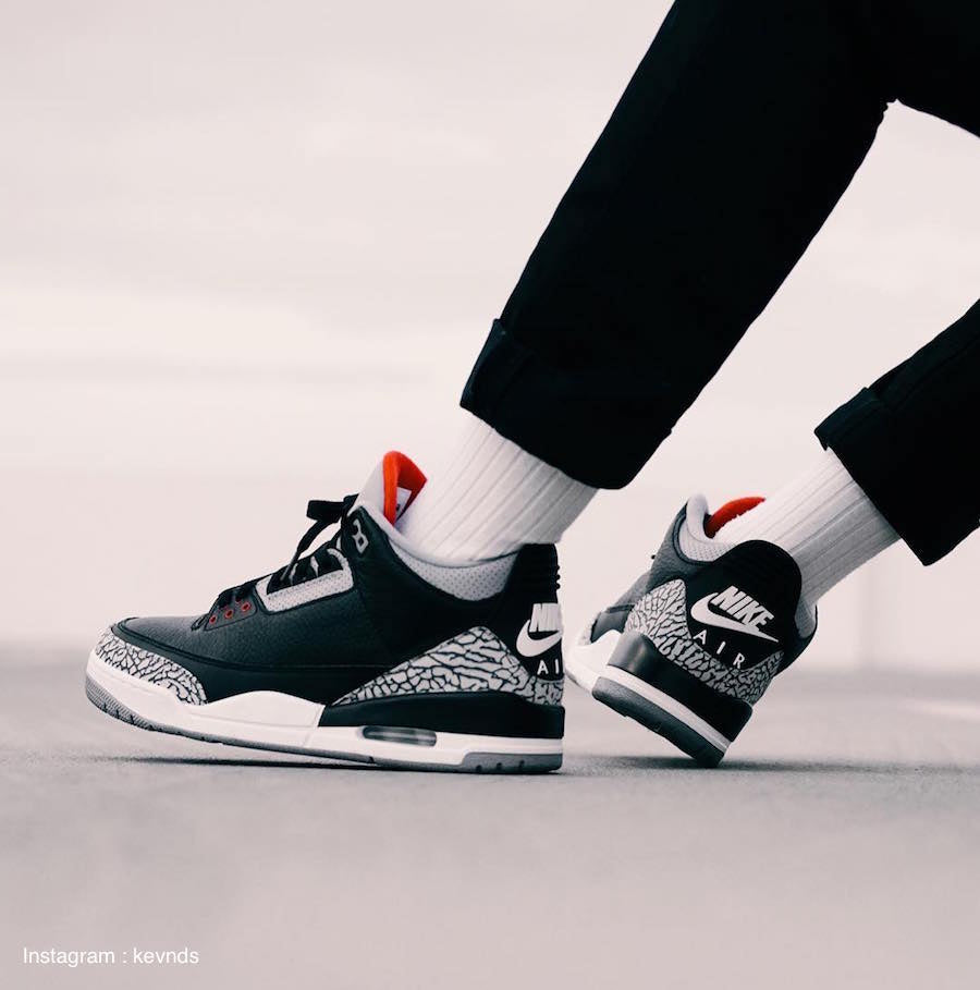 Air Jordan 3 Black Cement (2018)
