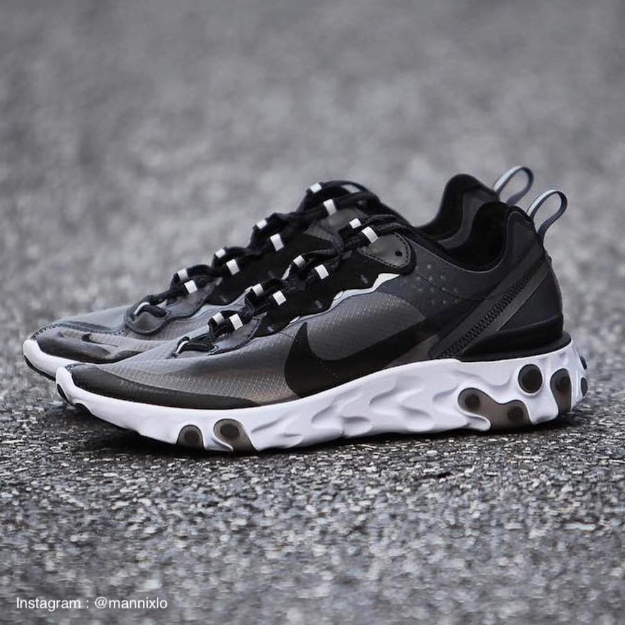 React Element 87 Anthracite Black