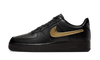 Nike Air Force 1 Black Metallic Gold Removable Swoosh - CT2252-001