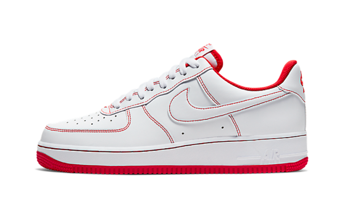 Nike Air Force 1 Low Stitch White Red - CV1724-100