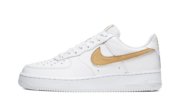 Nike Air Force 1 Low Pony Hair Snakeskin Club Gold - CW7567-101