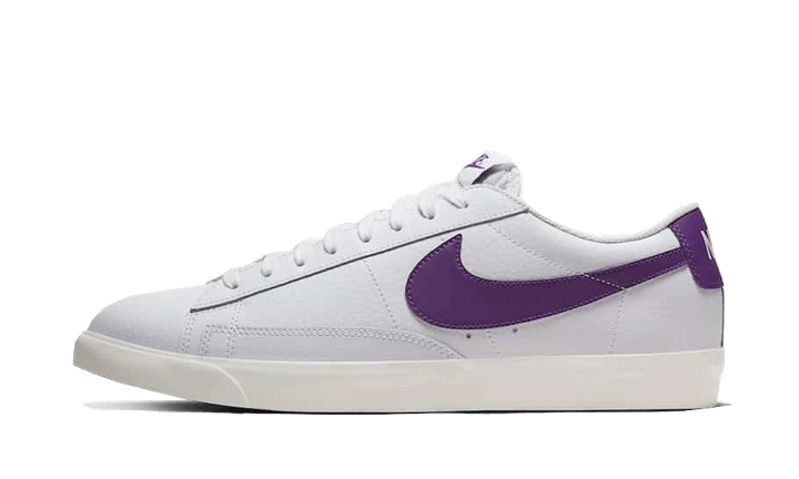 Nike Blazer Low Leather White Purple - CI6377-103