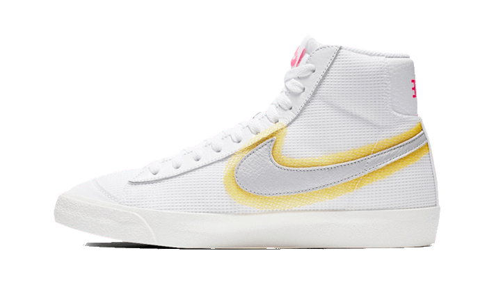 Nike Blazer Mid 77 Cotton Waffle White University Gold - CZ8105-100