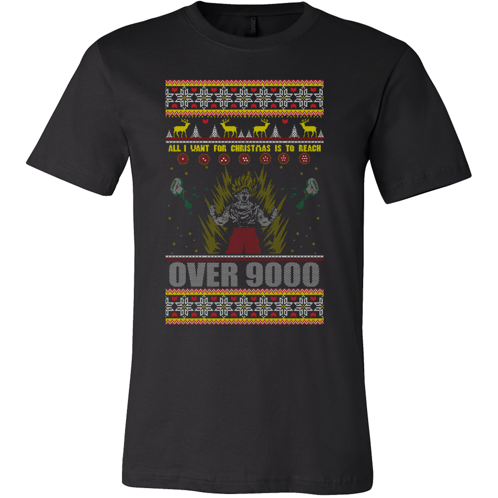 Dragon ball z over 9000 ugly christmas sweater - teeshirtlavi