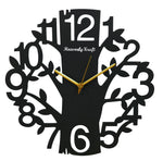 Nature Theme Metal Wall Clock