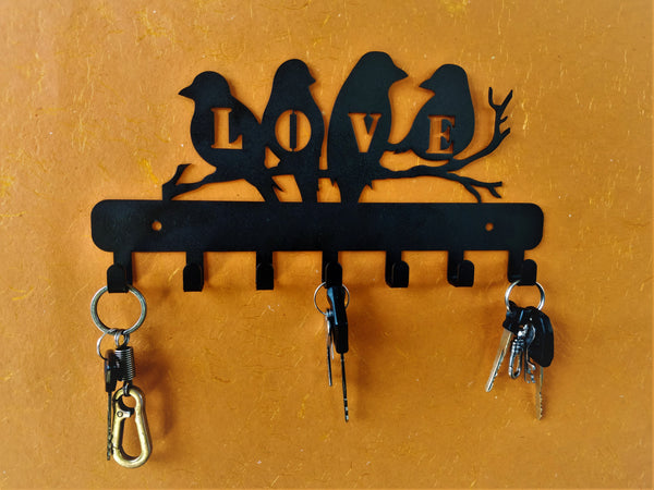 Love Birds Metal Key Holder