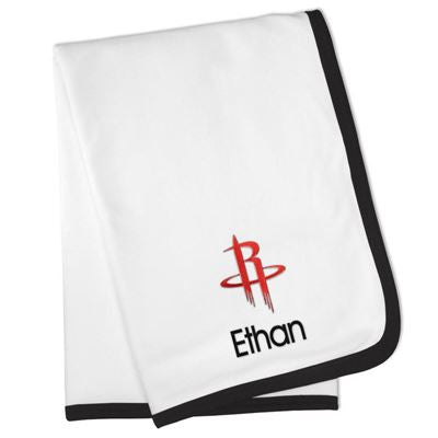 Houston Rockets Personalized Infant Baby Blanket