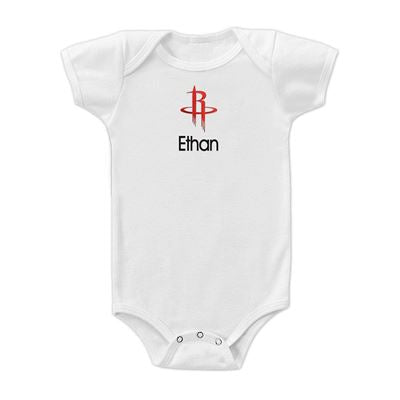 Houston Rockets Personalized Association Edition Infant Bodysuit