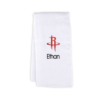 Houston Rockets Personalized Burp Cloth