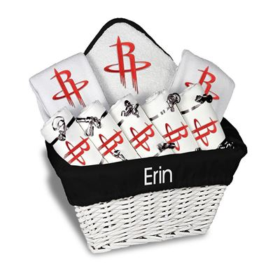 Houston Rockets Personalized Baby Large Gift Basket