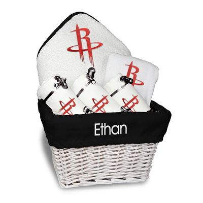 Houston Rockets Personalized Baby Medium Gift Basket