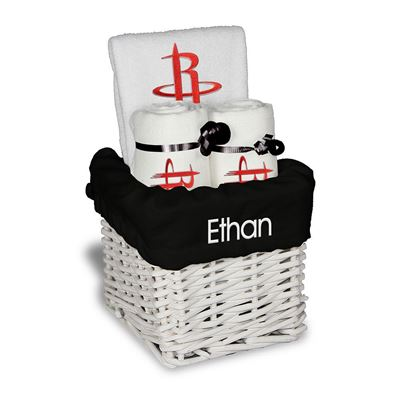 Houston Rockets Personalized Baby Small Gift Basket