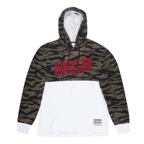 Men's Houston Rockets Mitchell & Ness HWC Tiger Camo Hoodie