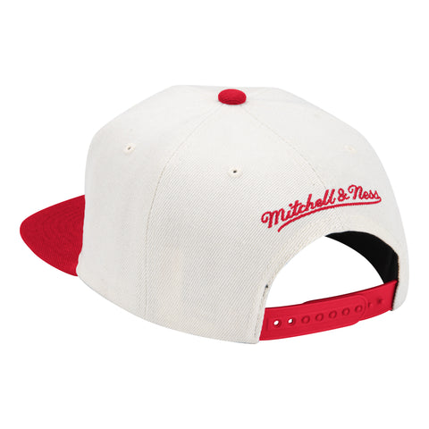 Men's Houston Rockets Mitchell & Ness R Logo Natural XL Snapback Hat