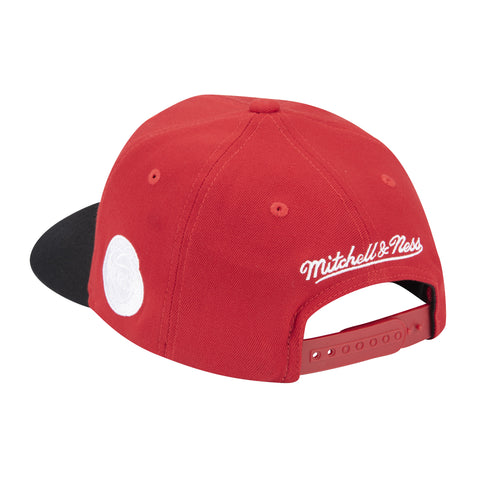 Men's Houston Rockets Mitchell & Ness HWC White Out Script Redline Hat