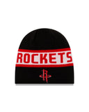 Men's Houston Rockets New Era Reverse Knit Beanie - Red/Black