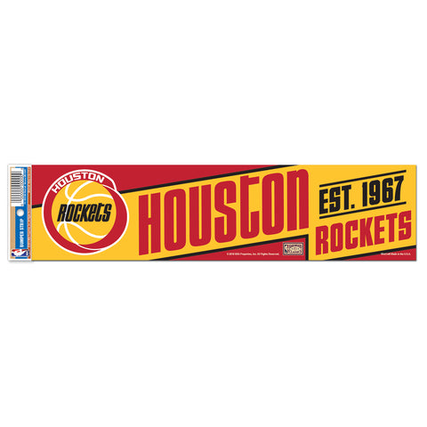 Houston Rockets Wincraft 3x12 HWC Bumper Sticker