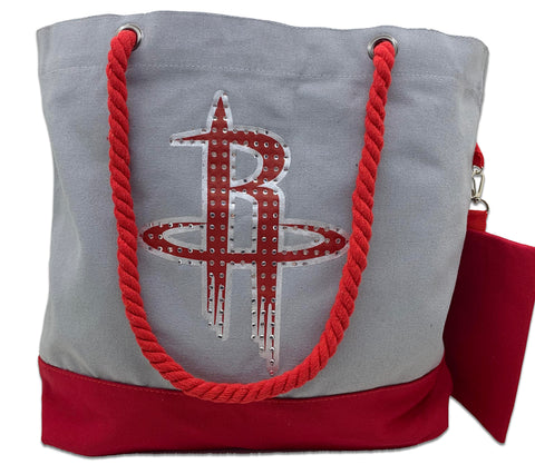 Houston Rockets Canvas Bag w/ Clutch Combo