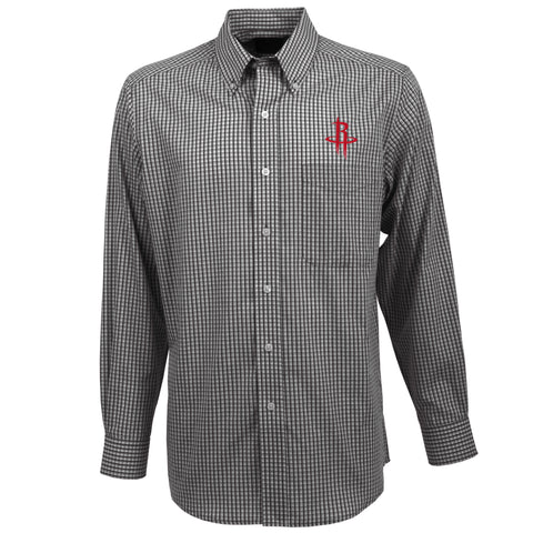 Men's Houston Rockets Antigua Associate Long Sleeve Button Down Shirt