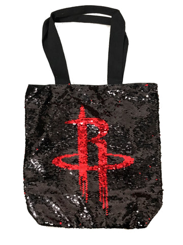 Houston Rockets Sequin Tote Bag