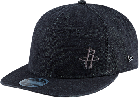 Men's Houston Rockets New Era Black Label Collection Denim 9Fifty Cap