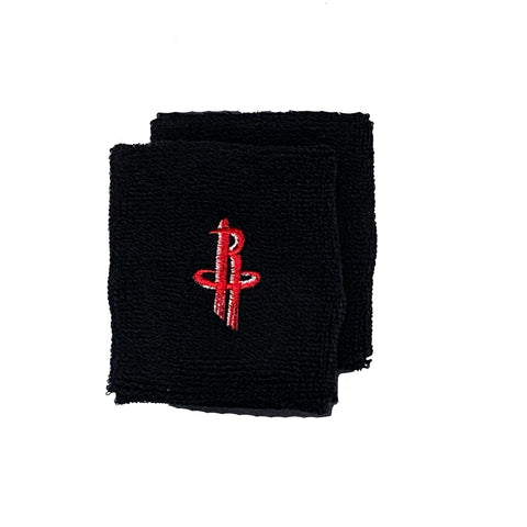Houston Rockets Team Logo Wristbands - Black