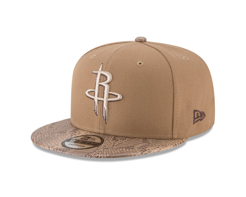 Men's Houston Rockets New Era Khaki Snakeskin Sleek 9Fifty Cap