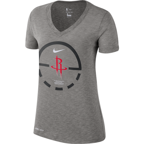 Women's Houston Rockets Nike Dri-Fit Circle V-Neck Tee