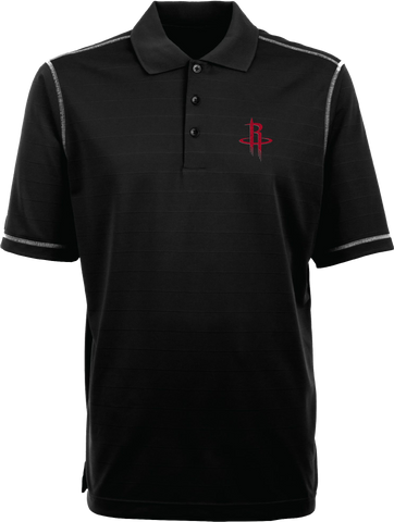 Men's Houston Rockets Antigua Black Icon Desert Dry Polo