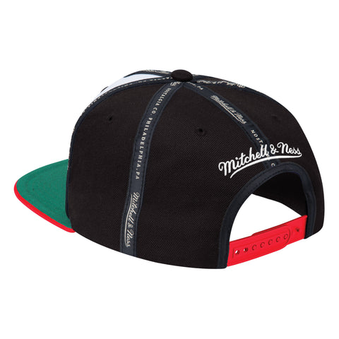 Men's Houston Rockets Mitchell & Ness HWC Rally Snapback Cap