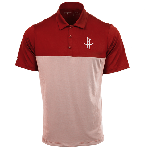 e1f29914245 Men s Houston Rockets Antigua Venture Polo - Red