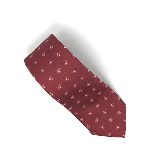 Recycled Plastic Italian Printed Christmas Ornaments Red Tie - Wilmok