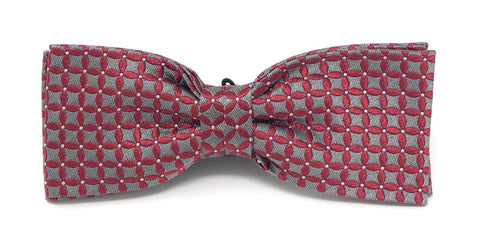 Red Luxury Silk Italian Jacquard Bow Tie - Wilmok