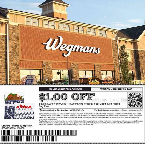 picture relating to Wegmans Printable Coupon called $1.00 OFF LunchSkins @ Wegmans Grocery