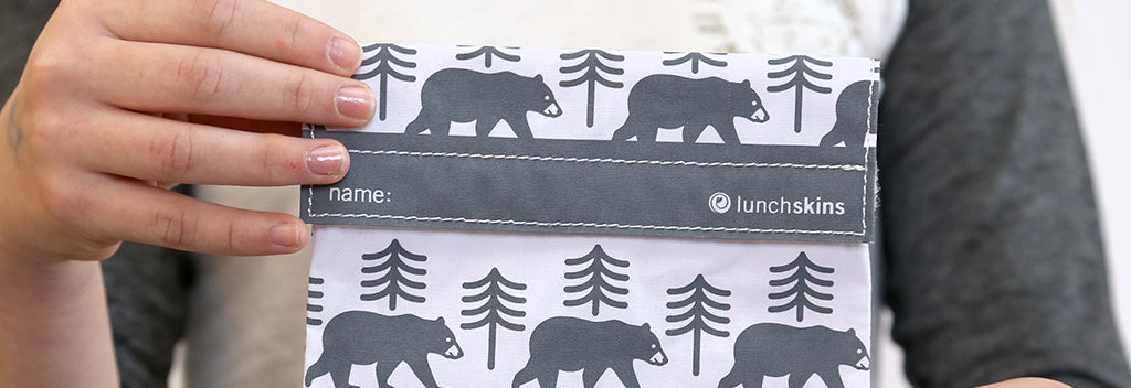 Reusable Sandwich Bag Charcoal Bear
