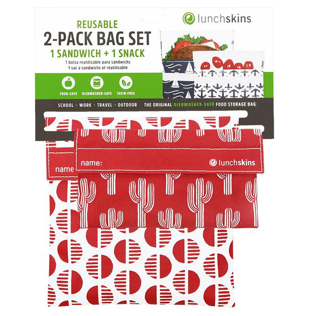 Reusable Sandwich Bag + Snack Bag 2-Pack Bundle Desert 1
