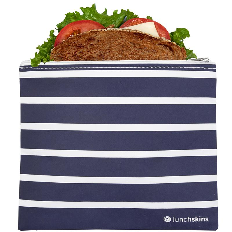 Reusable Sandwich Bag Zip Navy Stripe food storage bag best reusable bag Usa Today