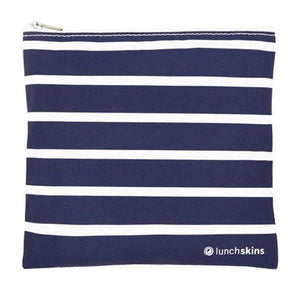 Reusable Sandwich Bag Zip Navy Stripe