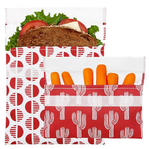 Reusable Sandwich Bag + Snack Bag 2-Pack Bundle Desert