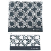 Reusable 2-Pack Zippered Bag Set Charcoal Circles for food storage lunchskins reusable bag for food storage best reusable bag usa today