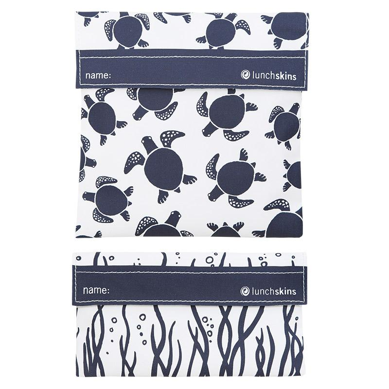 Reusable 2-Pack Bag Set Navy Sea Turtle best reusable bag usa today