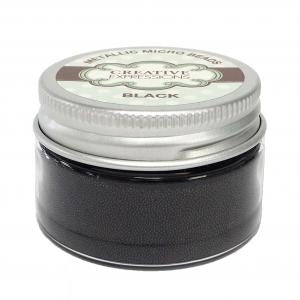 Metallic Micro Beads Black 50g