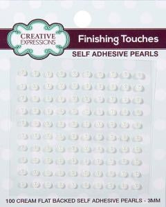 Creative Expressions Cream Self Adhesive Pearls - 3mm