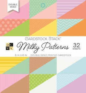 DCWV Milky Patterns 6 x 6 Cardstock Stack