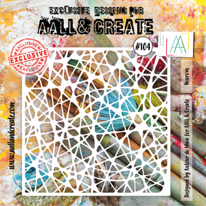 AALL & Create 6 x 6 Stencil #104 - Neurons