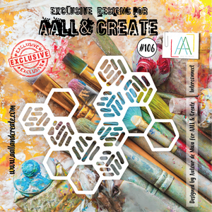 AALL & Create 6 x 6 Stencil #106 - Interconnect