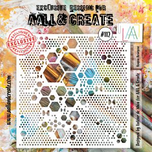 AALL & Create 6 x 6 Stencil #112 - Heapza Hexagonz