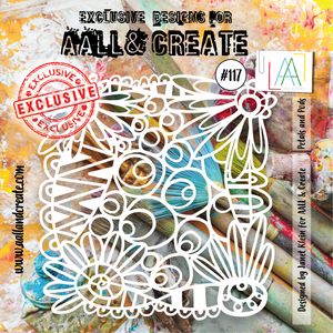 AALL & Create 6 x 6 Stencil #117 - Petals and Pods