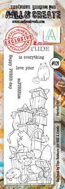AALL & Create Border Stamp #121 - Purrfect Gift