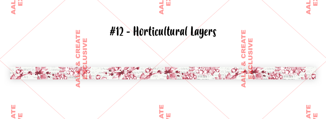 AALL & Create Washi Tape #12 - Horticultural Layers